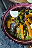Chicken and olive tagine with carrots