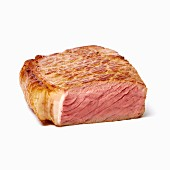 A medium-rare steak