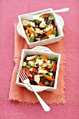 Oven-baked vegetables (beetroot, potato, carrot) baked with feta