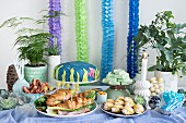 A party buffet with an 'Under the Sea' theme