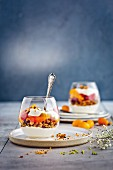 Quick and easy trifle with citrus fruits and granola