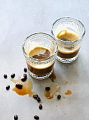 Two glasses of espresso