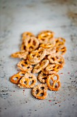 Crunchy sugar and cinnamon pretzels