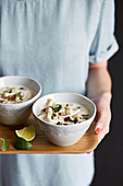 Tom Kha Gai (coconut soup with chicken, Thailand)
