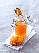 Pink grapefruit, ginger and honey jam