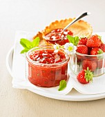 Strawberry and mint jam