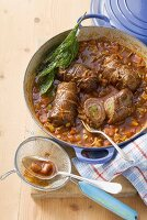 Beef roulades in port wine sauce