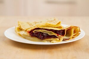 Crepes with jam filling