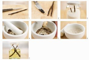 Vanilleöl, Vanillezucker und Vanillesalz herstellen