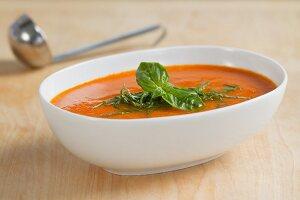 Tomatensauce mit frischem Basilikum