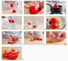 Tomaten blanchieren und entkernen