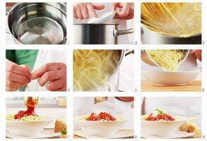 Spaghetti Napoli zubereiten