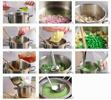 Making cream of pea soup
