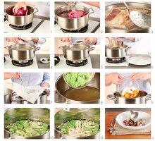 Pot au feu (Rindfleisch-Gemüse-Eintopf) zubereiten
