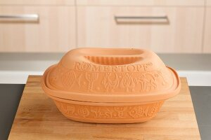 A clay pot