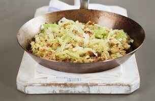 Bubble and squeak (fried mashed potato and cabbage, England)