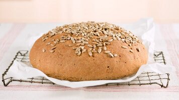 Freshly baked sunflower seed bread