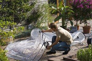 aufblasbares gew chshaus zum berwintern von k belpflanzen 5 18 bild kaufen friedrich. Black Bedroom Furniture Sets. Home Design Ideas