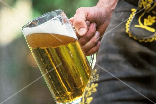 A Liter of Beer in a Man's Hand