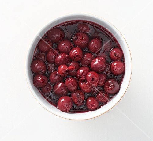 A bowl of cherry compote