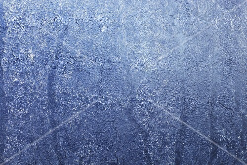 An icy window pane (macro zoom)