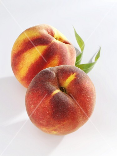 Two whole peaches
