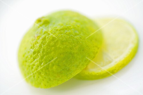 Half a lime and a slice of lime