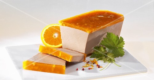 Duck pate with orange