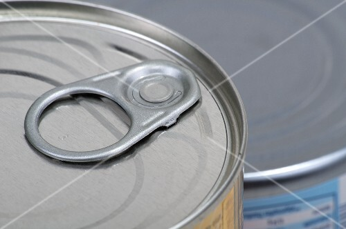 A tin can with a ring pull