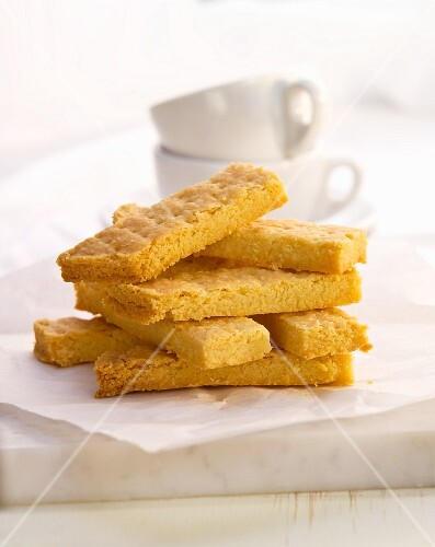 A stack of shortbread biscuits