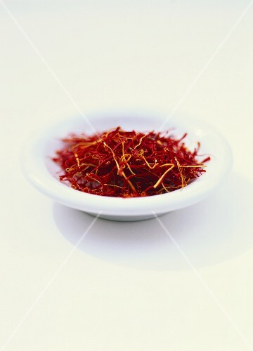 Bowl of saffron threads