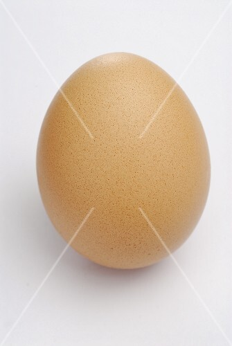 A brown hen's egg