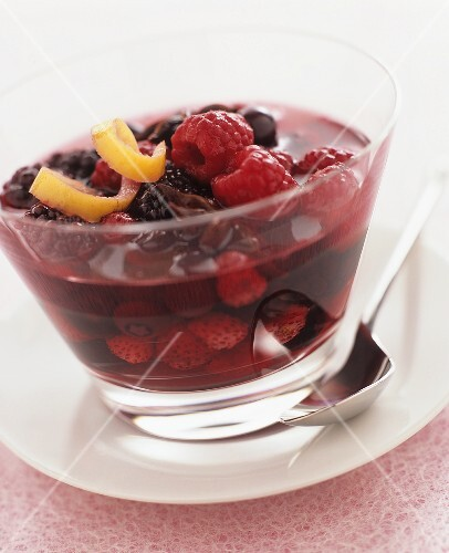 Berry compote with star anise