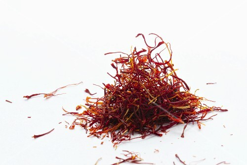 A heap of saffron threads