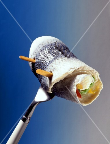 Pickled Herring on a Fork