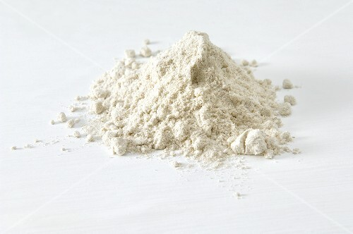 A heap of buckwheat flour