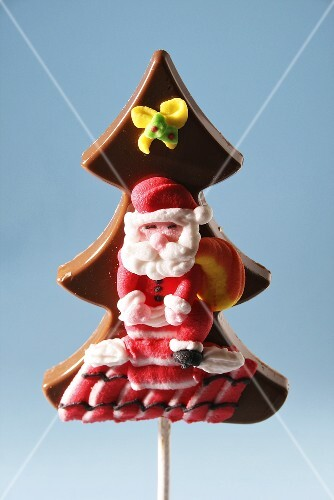 Chocolate christmas tree with Father Christmas