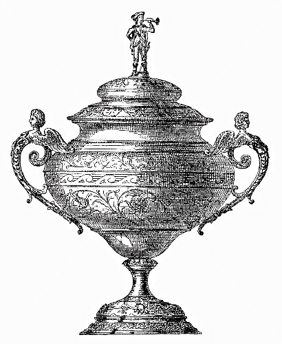 Festive punch-bowl (illustration)