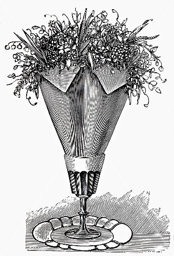 Napkin with flowers (illustration)