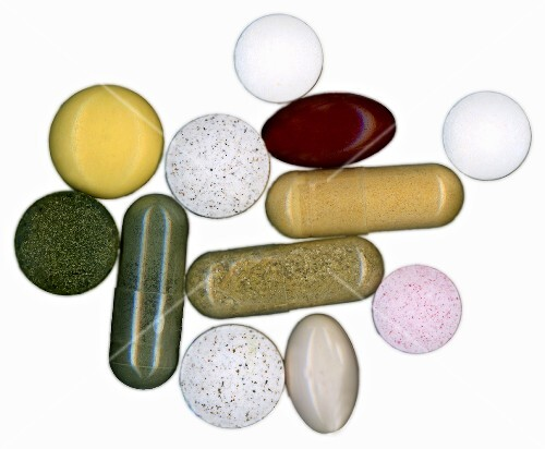 Vitamin tablets and plant-based medicines