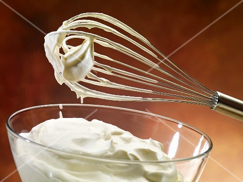 Whipping cream with a whisk
