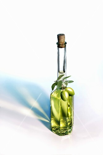 Olive oil in bottle