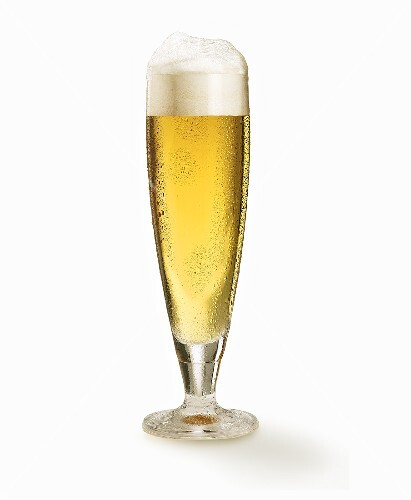 A glass of lager