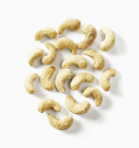 Roasted cashews, seen from above
