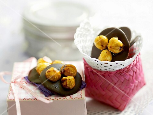 Chocolate biscuits with hazelnuts