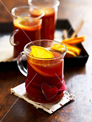 Glasses of red wine punch