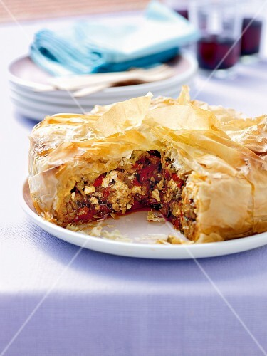 Lamb and vegetable pie