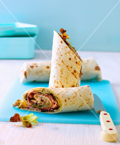 Vitello wrapato (vitello tonnato in a tortilla wrap)
