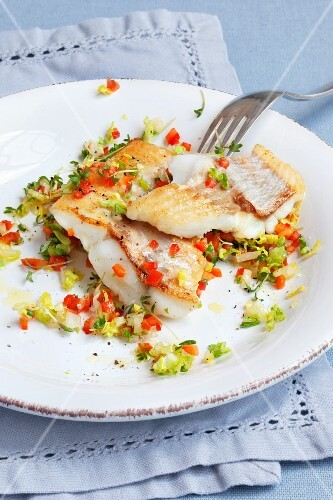 Redfish with salad salsa