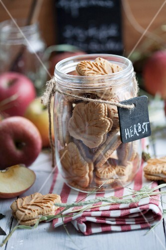 Maple biscuits in a jar